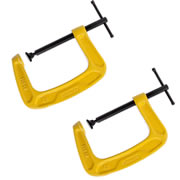 Stanley 0-83-034 Stanley G Clamp 100mm Twinpack