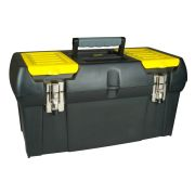 "Stanley 1-92-066 19"" 2000 Series Plastic Toolbox with Metal Latch"