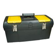 "Stanley 1-92-067 24"" 2000 Series Plastic Toolbox with Metal Latch"