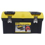 "Stanley 1-92-219 19"" Toolbox with Metal Latch + 12.5"" Bonus Box"