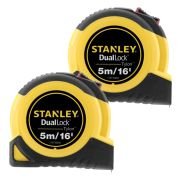 Stanley 368060PK2 Tylon Duallock Tape Measure 5m/16ft - Pack of 2