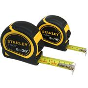 Stanley STHT9-98985 Tylon Tape Measure 5m/16ft & 8m/26ft - Pack of 2