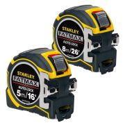 Stanley FAMPK Fatmax Autolock Tape Measure 8m/26' & 5m/16' Pack
