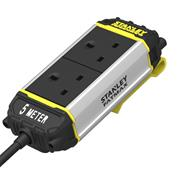 Stanley SXECFK0AHJE 2 Socket Power-Bar 2x13A 5m Inc Belt Clip