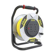 Stanley SXECFM2RHSE 25m FatMax Cable Reel 4x13A Yellow Cable IP20 240v