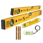 Stabila STB702COMBI Stabila Spirit Level Kit Series 70-2