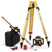 Stabila LAR160LSET Stabila LAR160LSET Motorised Self levelling rotating red laser with receiver, Tripod and Staff