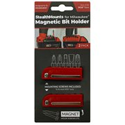 Stealth Mount BH-MW18-RED-2 Stealth Mount RED Bit Holder for Milwaukee M18