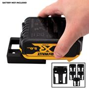 Stealth Mount  Dewalt Battery Holders Suitable for Dewalt 18V XR & FLEXVOLT  Batteries - Black - Pack of 6