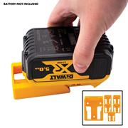 Stealth Mount  Dewalt Battery Holders Suitable for Dewalt 18V XR & FLEXVOLT Batteries - Yellow - Pack of 6