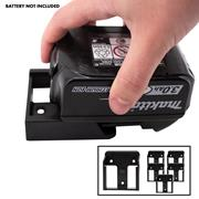 Stealth Mount  Stealth Mount Battery Holders Suitable for 18V LXT Batteries - Black Pack of 6