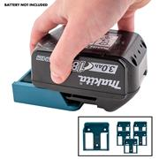 Stealth Mount  Makita Battery Holders Suitable for Makita 18V LXT Batteries - Blue - Pack of 6