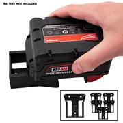 Stealth Mount Milwaukee Battery Holders Suitable for Milwaukee 18V M18 Batteries - Black - Pack of 6