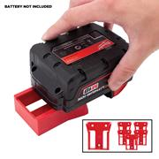 Stealth Mount Milwaukee Battery Holders Suitable for Milwaukee 18V M18 Batteries - Red - Pack of 6