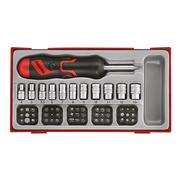 "Teng Tools TTMDRT64 1/4"" Drive Angled Ratchet and Bit Driver 64 Piece Set"