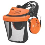 3M G500V5CH 3M Peltor G500 Forestry Combination With Ear Defenders & Visor Black/Orange