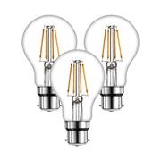 TimeLED 750414PK3 LED GLS Filament 8W Dimmable Bulb B22 WW - Pack of 3