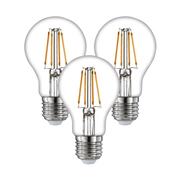 TimeLED 750421PK3 LED GLS Filament 8W Dimmable Bulb E27 WW - Pack of 3