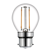 TimeLED 750490 LED Golf Ball Filament 2W Non-Dimmable Bulb B22 WW