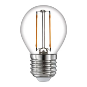 TimeLED 750506 LED Golf Ball Filament 2W Non-Dimmable Bulb E27 WW