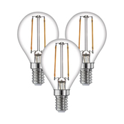 TimeLED 750520PK3 LED Golf Ball Filament 4W Dimmable Bulb B22 WW - Pack of 3