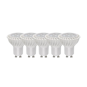 TimeLED 750643PK5 LED GU10 6W Dimmable Bulb WW - Pack of 5