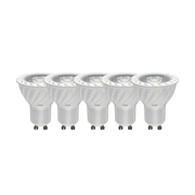 TimeLED 757864PK5 LED GU10 COB 7W Dimmable CW - Pack of 5