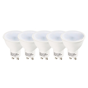 TimeLED 757888 TimeLED LED GU10 4W Non-Dimmable CW - Pack of 5