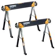 ToughBuilt Saw Horse/Adjustable Jobsite Table Twin Pack