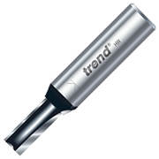 "Trend TR16X1/2TC Two Flute Cutter 38mm Cut - 1/2"" Shank, 12.7mm Dia"