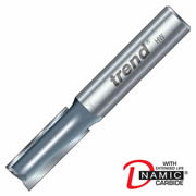 "Trend 3/02X1/4TC Two Flute Cutter 19mm Cut - 1/4"" Shank, 6.3mm Dia"