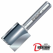 "Trend 3/8LX1/4TC Two Flute Cutter 19mm Cut - 1/4"" Shank, 12mm Dia"