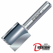 "Trend 4/1X1/4TC Two Flute Cutter 25mm Cut - 1/4"" Shank, 15mm Dia"