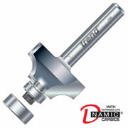 "Trend 46/130X1/4TC Guided Rounding Over Cutter 13mm Cut - 1/4"" Shank, 25.4mm Dia, 6.3mm Radius"