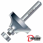 "Trend 46/140X1/4TC Guided Rounding Over Cutter 16mm Cut - 1/4"" Shank, 32mm Dia, 9.5mm Radius"