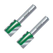 Trend 1/4C024APK2 Trend 15mm Straight Cutter (1/4'' Shank) 25mm - Pack of 2
