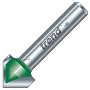 "Trend C043 Trend 60 Degree V Groove Cutter (1/4"" Shank)"