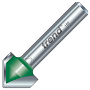 "Trend C044 Trend 45 Degree V Groove Cutter (1/4"" Shank)"