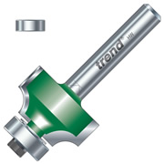 "Trend C076X1/4TC Guided Rounding Over Cutter 12.7mm Cut - 1/4"" Shank, 25.4mm Dia, 6.3mm Radius"