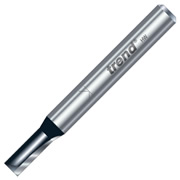 "Trend TR04X1/4TC Two Flute Cutter 16mm Cut - 1/4"" Shank, 6mm Dia"