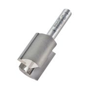 "Trend 4/5X1/4TC Two Flute Cutter 25mm Cut - 1/4"" Shank, 19.1mm Dia"