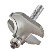"Trend 46/150X1/4TC Guided Rounding Over Cutter 19mm Cut - 1/4"" Shank, 38mm Dia, 12.7mm Radius"