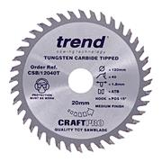 Trend CSB/12024T Trend CRAFTPRO Plunge Sawblade 120mm 20mm 24 Tooth