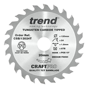 Trend CSB/1240T Craft Saw Blade 120mm x 24T x 20mm Thin To Suit Mafell KSS40