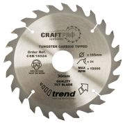 Trend CSB/15024 Craft Saw Blade 150mm x 20mm 24T