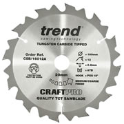 Trend CSB/16012A Trend CRAFTPRO Plunge Sawblade 160mm 20mm 12 Tooth