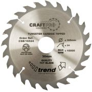 Trend CSB/16024 Craft Saw Blade 160mm x 20mm 24T