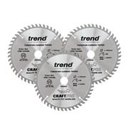 Trend CSB/160/3PK 160mm 48 Tooth Craft Saw Blade Triple Pack