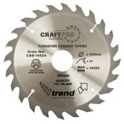 Trend CSB/CC16524 Trend Circular Saw Blade 165mm 24 Tooth (Coarse Cutting)