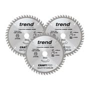 Trend CSB/165/3PK/A 165mm 48 Tooth Circular Saw Blade Triple Pack